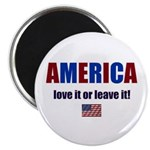 AMERICA LOVE IT OR LEAVE IT FLAG Magnet
