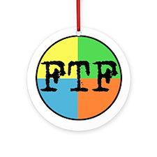 FTF Round Sticker Design Ornament (Round)