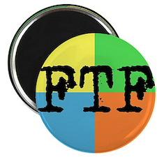 FTF Round Sticker Design Magnet