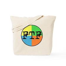 FTF Round Sticker Design Tote Bag