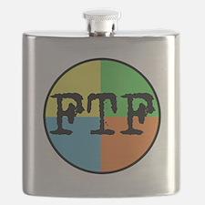 FTF Round Sticker Design Flask