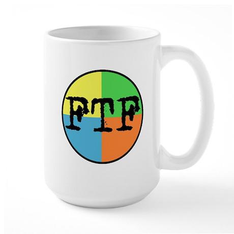 FTF Round Sticker Design Large Mug