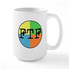 FTF Round Sticker Design Mug