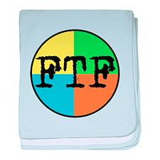 FTF Round Sticker Design baby blanket