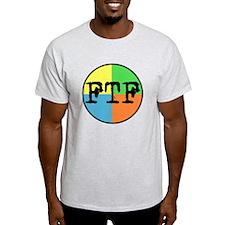 FTF Round Sticker Design T-Shirt