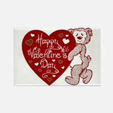 Valentines Day Bear Rectangle Magnet