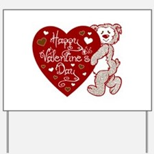 Valentines Day Bear Yard Sign