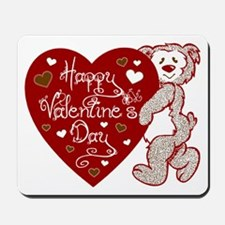 Valentines Day Bear Mousepad