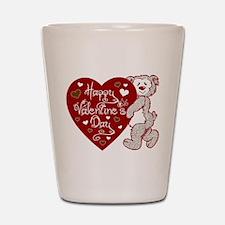 Valentines Day Bear Shot Glass
