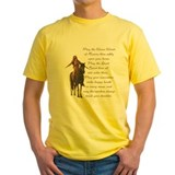 American indian Mens Classic Yellow T-Shirts