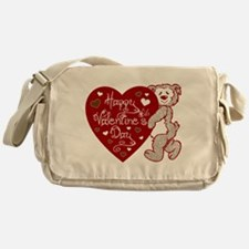 Valentines Day Bear Messenger Bag