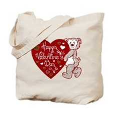 Valentines Day Bear Tote Bag
