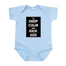 Keep Calm Kick Ass Infant Bodysuit