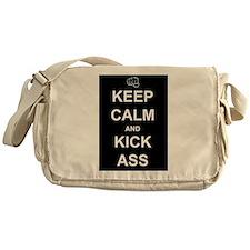 Keep Calm Kick Ass Messenger Bag