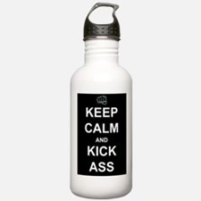 Keep Calm Kick Ass Water Bottle
