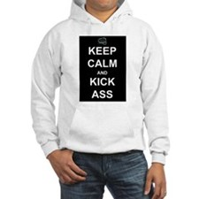 Keep Calm Kick Ass Jumper Hoody