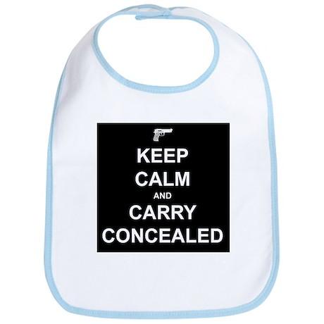 Keep Calm Carry Concealed Bib