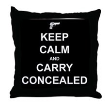 Keep Calm Carry Concealed Throw Pillow