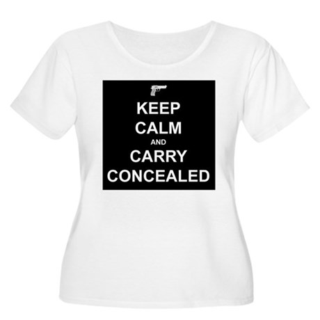Keep Calm Carry Concealed Women's Plus Size Scoop