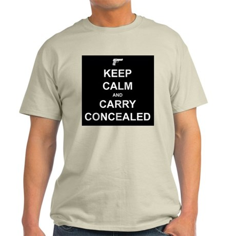Keep Calm Carry Concealed Light T-Shirt