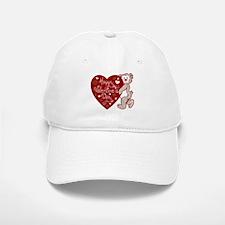 Valentines Day Bear Baseball Baseball Cap