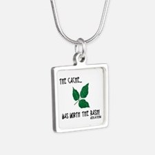 The Cache was worth the rash! Silver Square Neckla