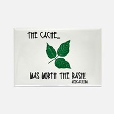 The Cache was worth the rash! Rectangle Magnet (10