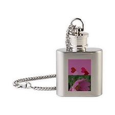 Alaska Wild Rose Flask Necklace