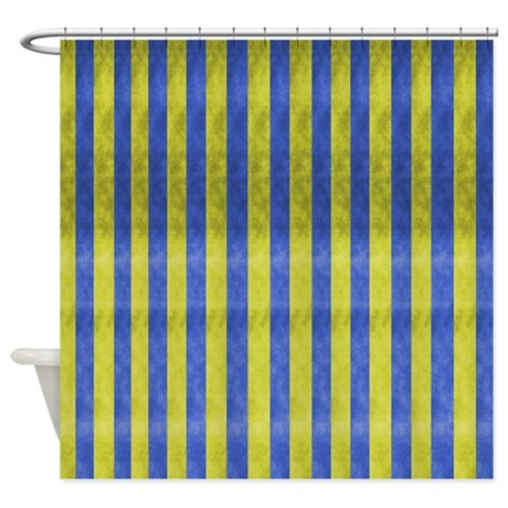 Modern Abstract Yellow And Blue Shower Curtain By Markmoore