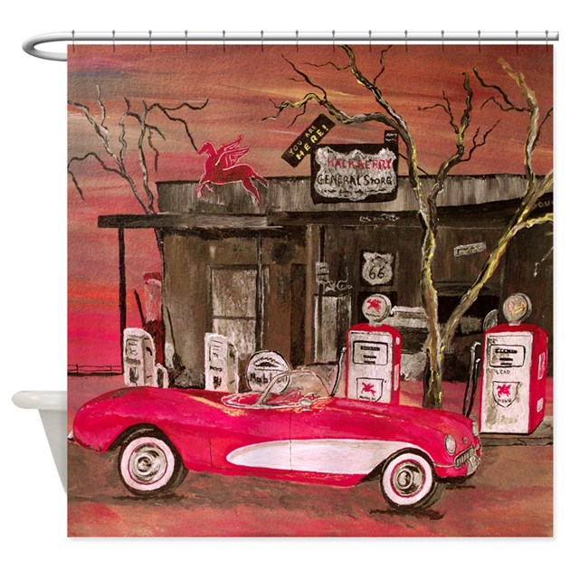 Classic Sport Car Shower Curtain By Markmoore