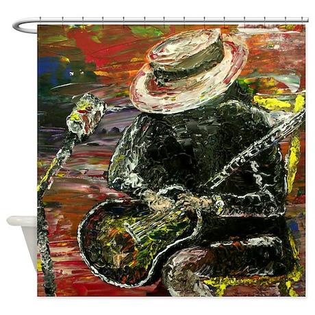 Modern Abstract Art Musical Shower Curtain