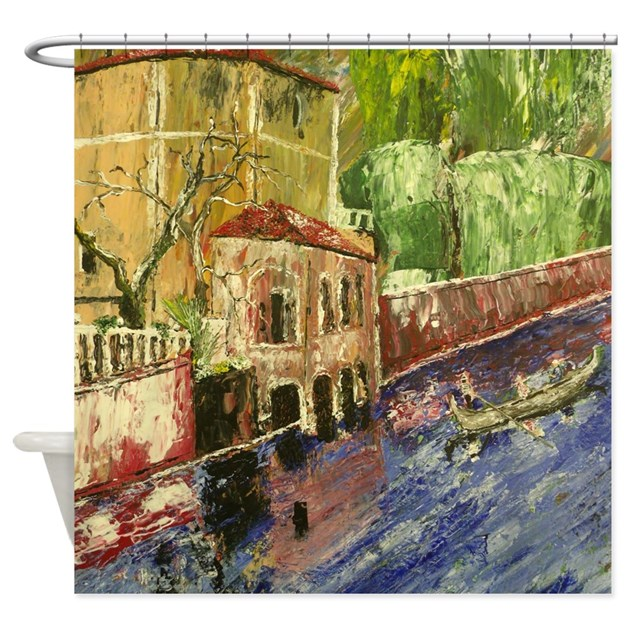 Romantic italy shower curtain by markmoore