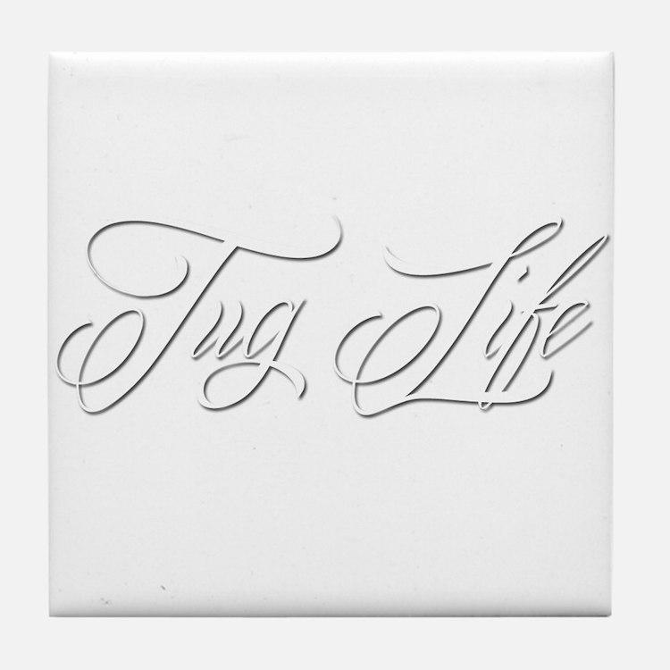 Tug Life Tile Coaster