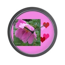Alaska Wild Rose Wall Clock
