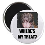 WHERE'S MY TREAT BULLMASTIFF LOOK Magnet