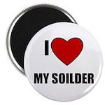 I LOVE MY SOILDER Magnet