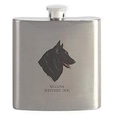 Belgian Shepherd Dog Flask
