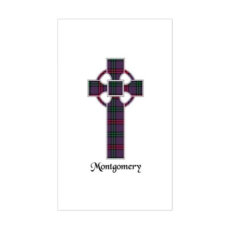 Cross - Montgomery Sticker (Rectangle)