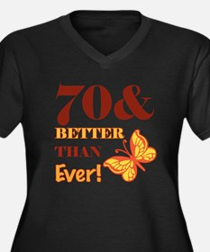70 And Better Than Ever! Women's Plus Size V-Neck