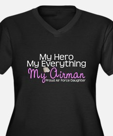 My Everything AF Daughter.png Women's Plus Size V-