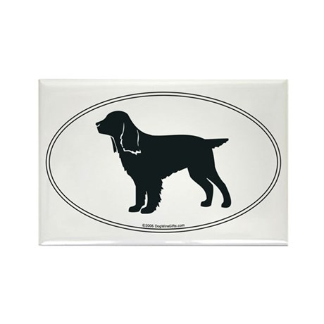 Field Spaniel Silhouette Rectangle Magnet