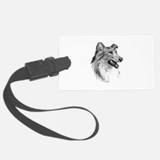 Sable Rough Collie Luggage Tag