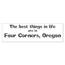 Four Corners: Best Things Bumper Bumper Sticker