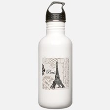 Vintage Paris Eiffel Tower Sports Water Bottle