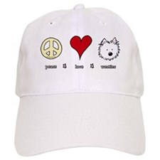 Peace Love Westies Baseball Cap