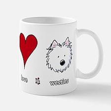 Peace Love Westies Mug