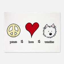 Peace Love Westies 5'x7'Area Rug