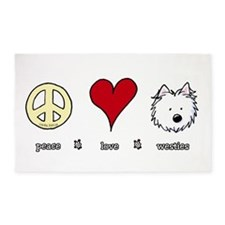 Peace Love Westies 3'x5' Area Rug