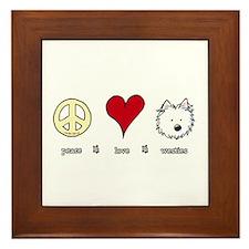 Peace Love Westies Framed Tile