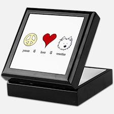 Peace Love Westies Keepsake Box